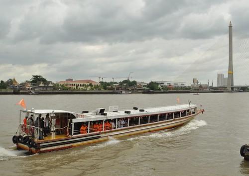 monks in boat