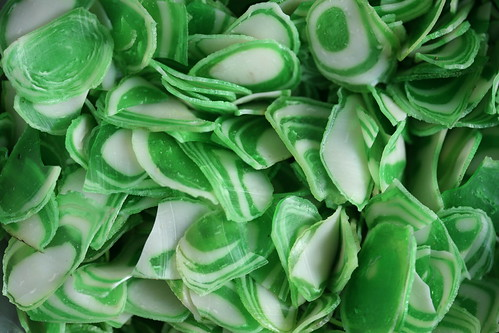 green and white krupuk