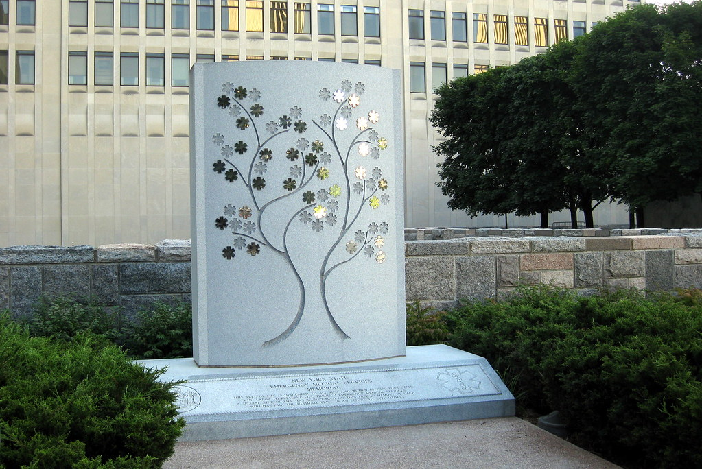 NY - Albany: Empire State Plaza - New York State Emergency Medical Services Memorial