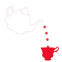the quilt project design (craftapalooza) Tags: red tea embroidery teacup doily redwork thequiltproject