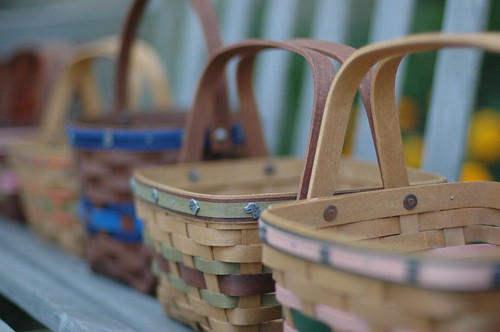 The basket in focus with the dog grommlets was the one I made and was able to keep!