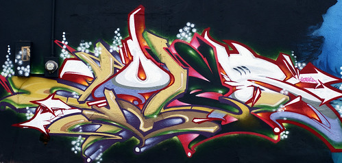 Center St. Wall -  Houston Graffiti Art- Coler