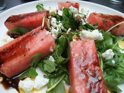 Watermelon Goat Cheese Salad at Basi Italia