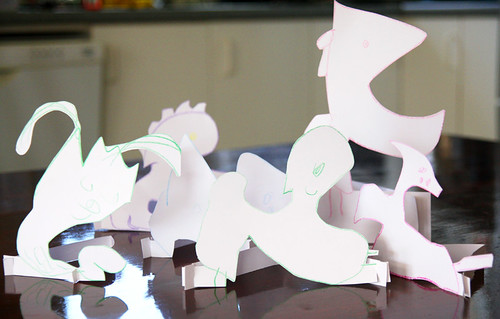 Paper animals by Hazel and Jacqui