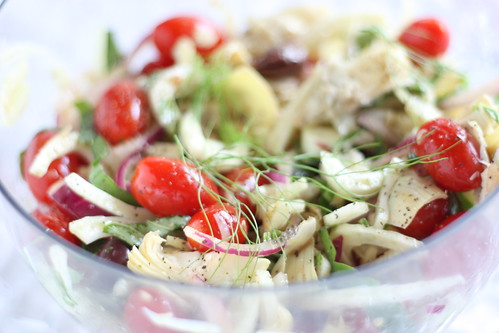 Artichoke, Fennel and Tomato Salad