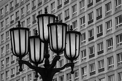 Berlin Plates (_David_Meister_) Tags: bw white black berlin alex lamp germany deutschland lampe ss plate alexanderplatz plates platte weiss schwarz weis streetbulb plattenbaute strasenlampe