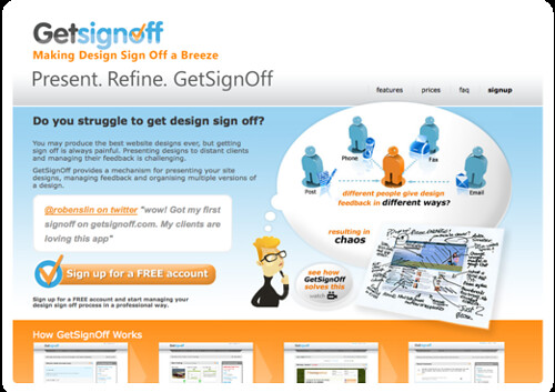 GetSignOff - Present. Refine. Getsignoff for web designers to manage client feedback