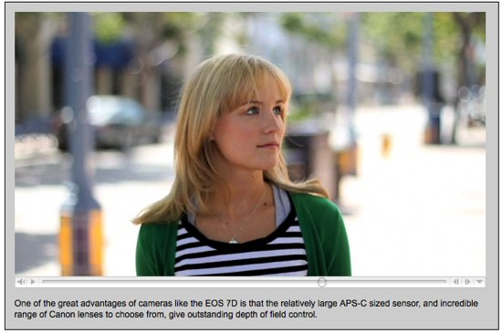 Depth of field control example on the Canon 7D in movie mode -- Canon Digital Learning Center