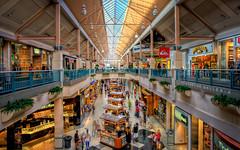 The Riverside Galleria (isayx3) Tags: people motion blur mall shopping nikon exposure riverside indoor quicksilver tyler multiple 24mm nikkor f28 hdr galleria d3 pretzelmaker