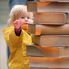 When I grow up I'll read big books like this (Sir Cam) Tags: cambridge sculpture book toddler university books unveiling ul shadi universitylibrary postrait sircam harrygray