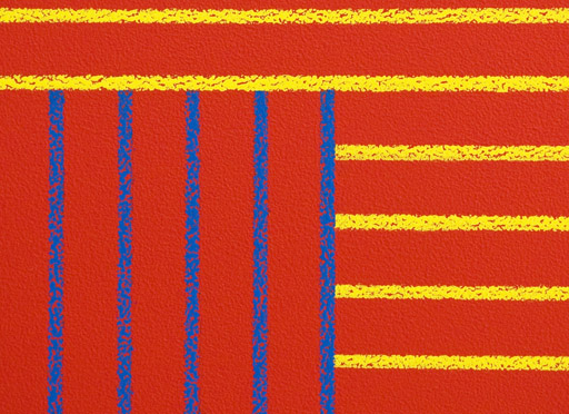 Detail from a Sol LeWitt wall painting