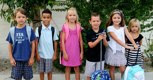 first day of school lineup