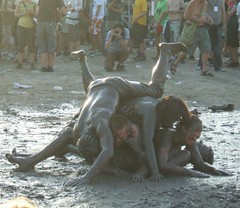 Sziget Festival 2009 - Mud Fighters (Pozor Vlak) Tags: pictures show portrait people sun hot sexy water girl beauty festival youth fun island photo crazy jump sand bath funny hungary play mud wrestling performance young hippy dirty dirt lust woodstock baden sziget wrestlers 2009 openair kpek happyness magyarorszg madchen fesztivl fotk galria hajgyri budai auslanderin