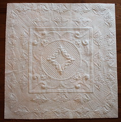 ManQuilter's WholeCloth Trapunto Quilt (manquilter) Tags: design mctavish trapunto wholecloth