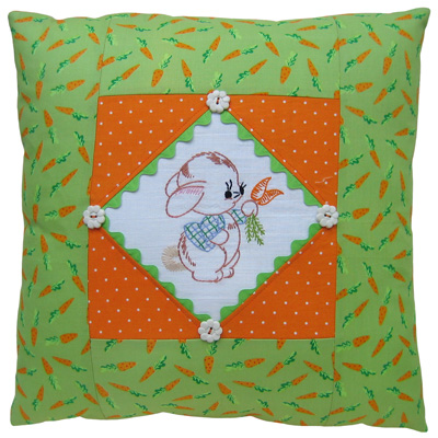 Crazy for Carrots pillow