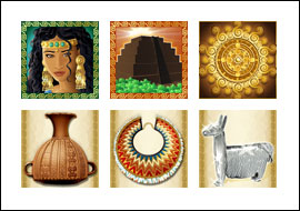 free Incan Goddess slot game symbols
