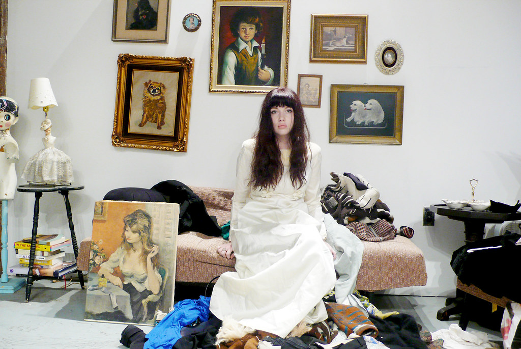 fur dress