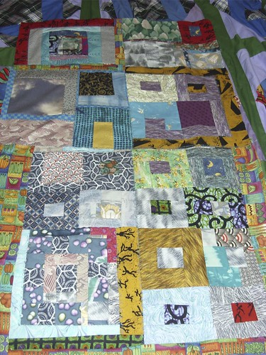 working on a quilt