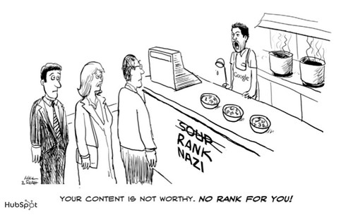 Content Nazi Cartoon by HubSpot