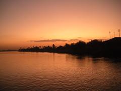 sunset Nile river egypt beni suef