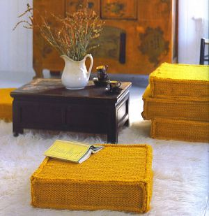 gusseted floor cushions