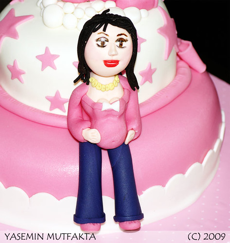 Pembe Baby Shower Pastasi / Pink Shower Cake