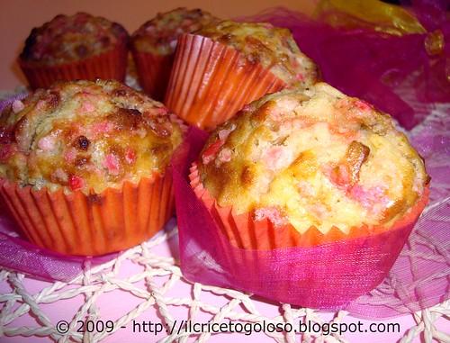 Muffins con chips di banane e zucchero rosa (2)
