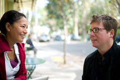 Lisa Katayama and Biz Stone (Joi) Tags: 35mm bizstone freesouls places:locality=kh8dloubbzrvxyz sec lisakatayama m9digitalcamera