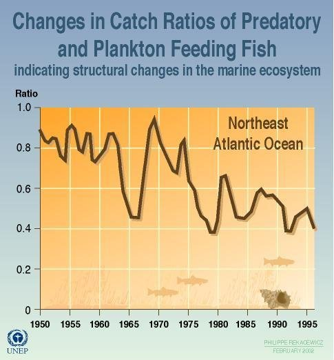 A chart of changes in the trophic composition of harvests. Ocean & Coastal Mgmt, 2000.