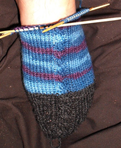 Twirling Twist Socks - Toe and foot