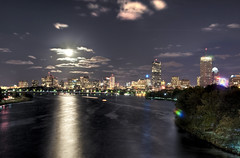 Dark Sun over Boston (Werner Kunz) Tags: world city longexposure trip travel cambridge vacation sky urban usa sun moon holiday black reflection building tower water boston skyline night clouds speed america photoshop river dark stars ma lights town us nikon stream downtown cityscape time cloudy massachusetts newengland wideangle charles center stadt shutter 40 johnhancock beacon dri prudential hdr backbay hdri werner beantown metropole skyscrapper kunz photomatix 20fav explored colorefex nikond90 topazadjust werkunz1