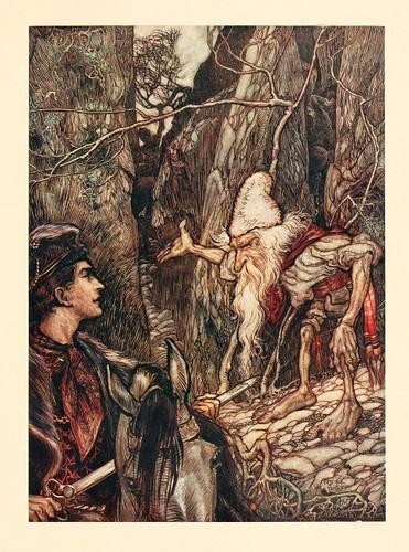 014-El agua de vida- Snowdrop & other tales 1920- Grimm-Ilustrada por Rackham
