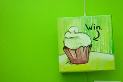 cupcake in green theme