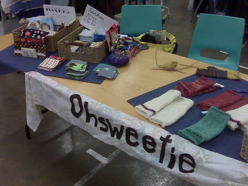 my table at the port alberni craft fair part 1