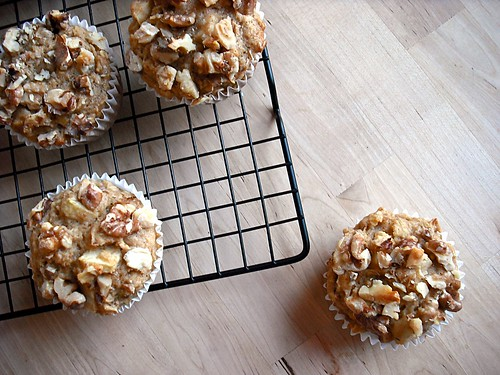 Apple Walnut Spice Muffins
