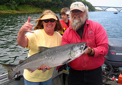 Catching a Big Salmon! (D Cunningham) Tags: me salmon jonanderson rogueriver perfectphotographer