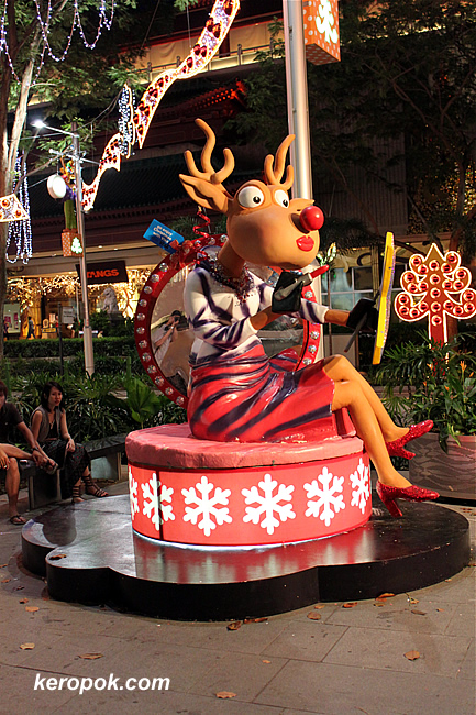 Reindeers on Orchard Road