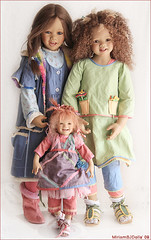Happy girls (MiriamBJDolls) Tags: 2005 2004 doll vinyl afroamerican linn limitededition 2007 happygirls toki tinke annettehimstedt himstedtkinder summerkinder