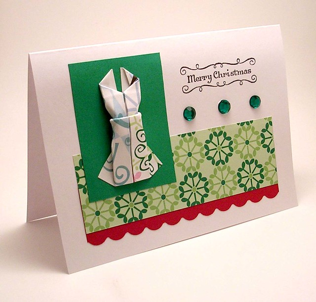Origami dress card, cute birthday card, girls birthday card ... | 611x640