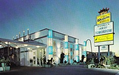 Inn of Tomorrow Anaheim 1960s (hmdavid) Tags: california vintage disneyland postcard motel 1960s bestwestern anaheim googie stovalls innoftomorrow