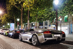 Lamborghini LP640 x3 (__martin__) Tags: paris night champs chrome lamborghini lyses exotics supercars combo v12 champslyses d80 lp640