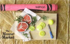 Salmon Preparation Magnet (Kitchen Prep Collection)