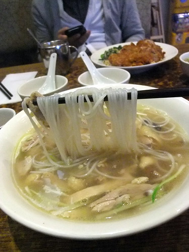 Chicken with Rice Wine Noodle