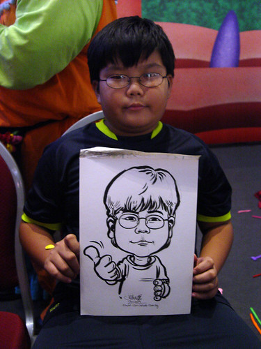 Caricature live sketching for Marina Square X'mas Tenants Gathering 2009 - 15