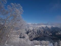 北大雪は雲の中