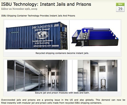 Overcrowded jails and prisons are a growing issue in the US and also globally. This demand can now be filled instantly with modular jail and prison cells made from recycled ISBU shipping containers. via ISBU News