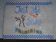 Just add snow (nathr3) Tags: winter snow crossstitch helga mandl kruissteek