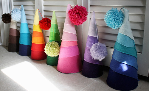 Bright Felt Christmas Trees