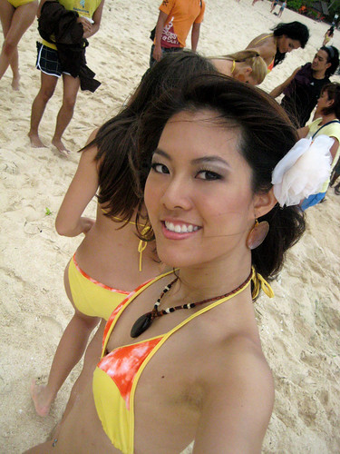 girl chested bikini flat Asian