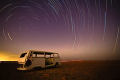 Star Trails [FB] (Mansour Ali) Tags: africa me broken car vw night volkswagen star north trails east clear explore middle retired libya frontpage lybia libyan libia            compulsivefolksonomygraffiti